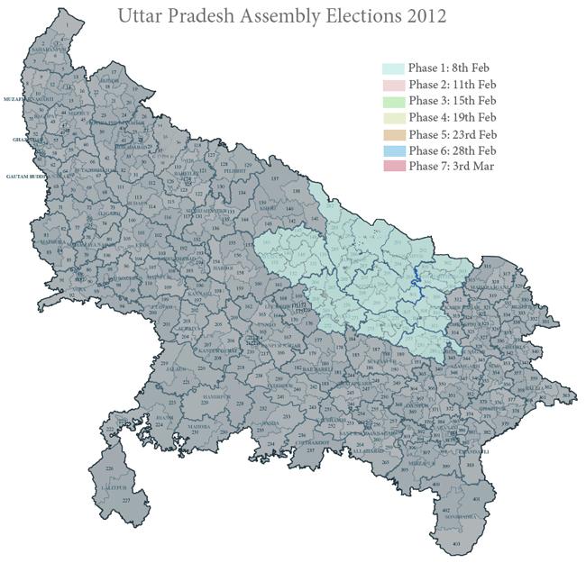 Phase 1 in Uttar Pradesh 2012