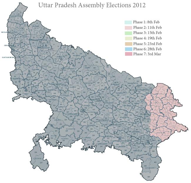 Phase 2 in Uttar Pradesh 2012
