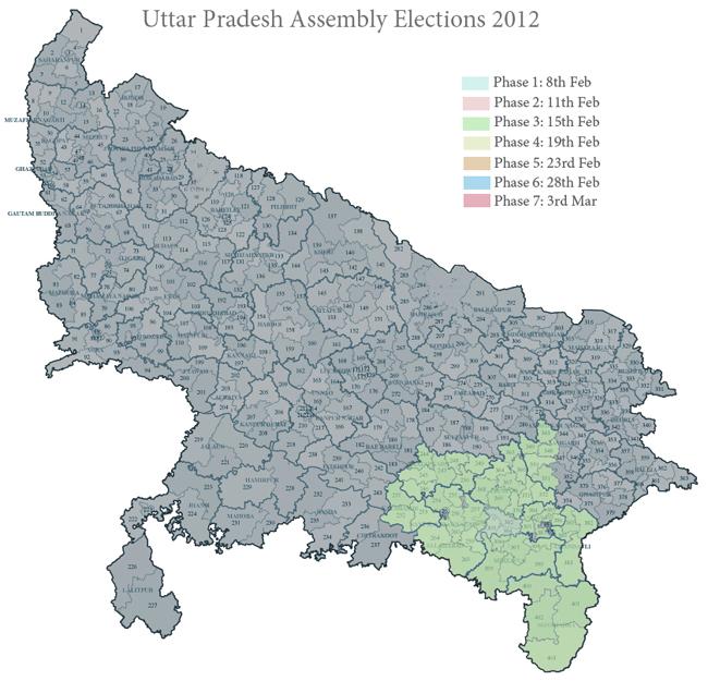 Phase 3 in Uttar Pradesh 2012