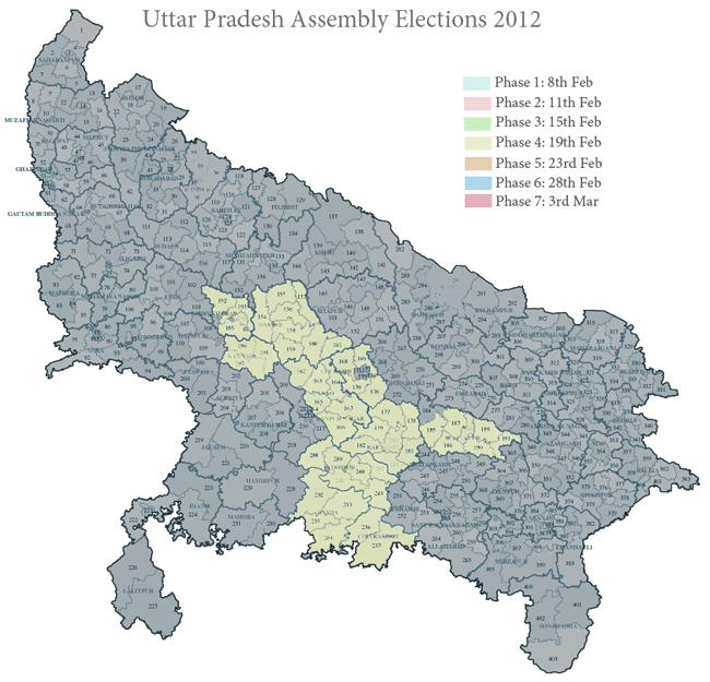 Phase 4 in Uttar Pradesh 2012