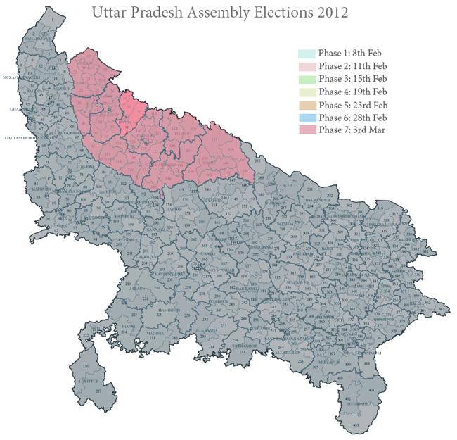 Phase 7 in Uttar Pradesh 2012